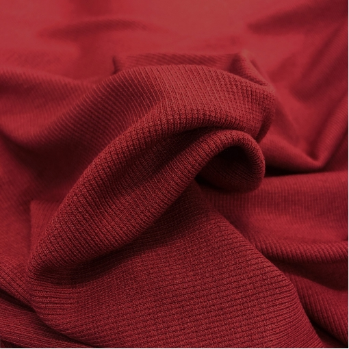 Трикотаж вискозный стрейч лапша цвета бордо