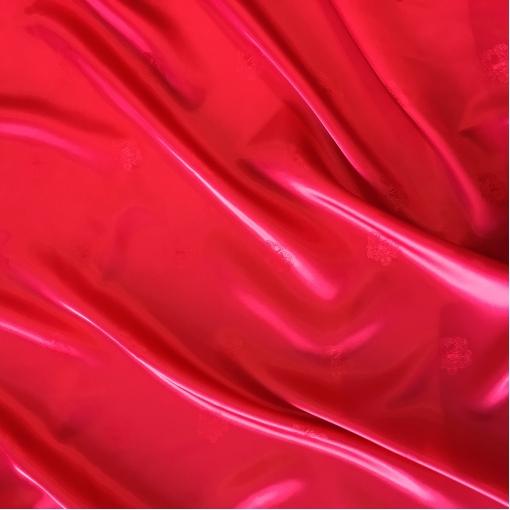 Подкладка вискозная жаккардовая цвета гренадин