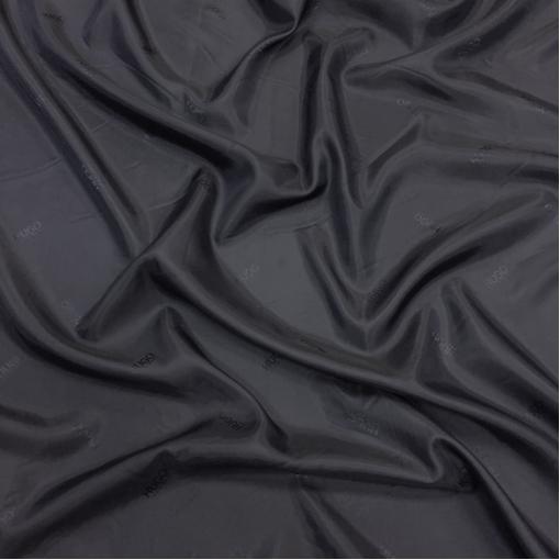Подкладка вискозная жаккардовая Hugo Boss сине-черного цвета