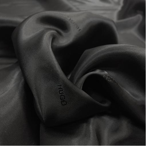 Подкладка вискозная жаккардовая купро Hugo Boss черного цвета