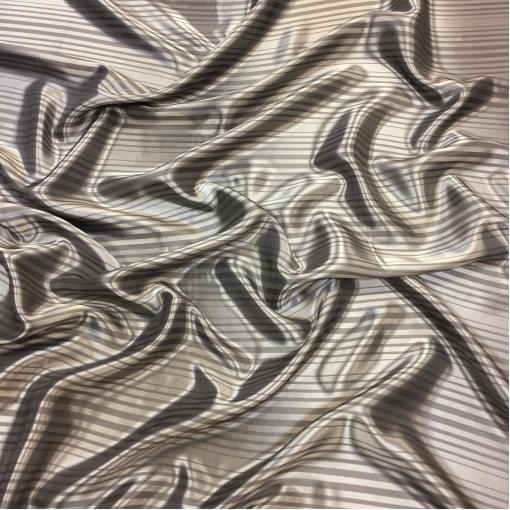Подкладка вискозная жаккардовая серо-стальные полоски