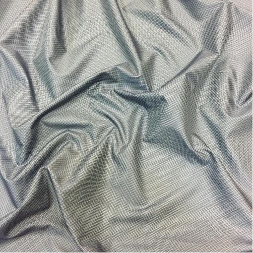 Подкладка вискозная жаккардовая серо-голубого цвета с ромбиками