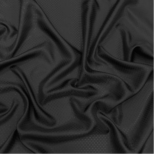 Подкладка вискозная жаккардовая черного цвета в мелкий горошек