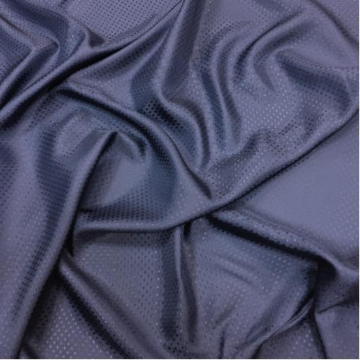 Подкладка вискозная жаккардовая сине-фиолетового цвета в мелкий горошек