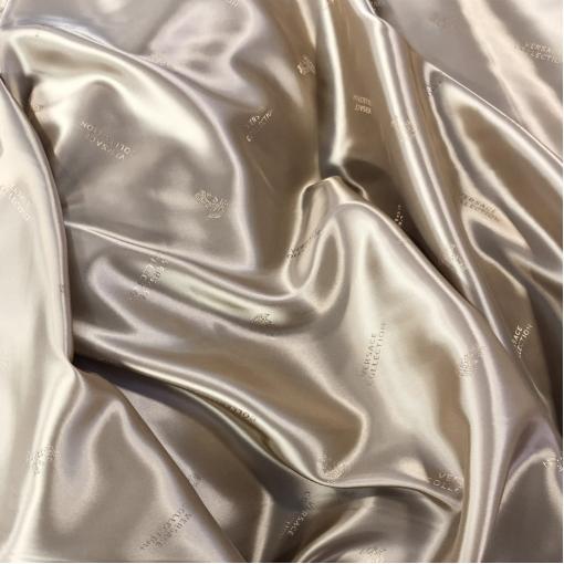 Подкладка вискозная стрейч дизайн Versace пыльно-бисквитного цвета