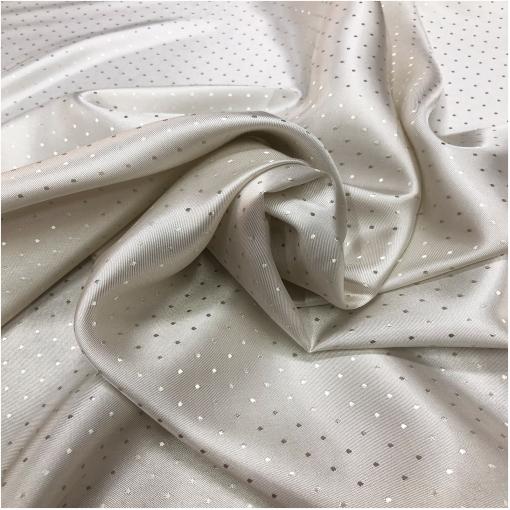 Подкладка вискозная жаккардовая разбелено-серебристого цвета