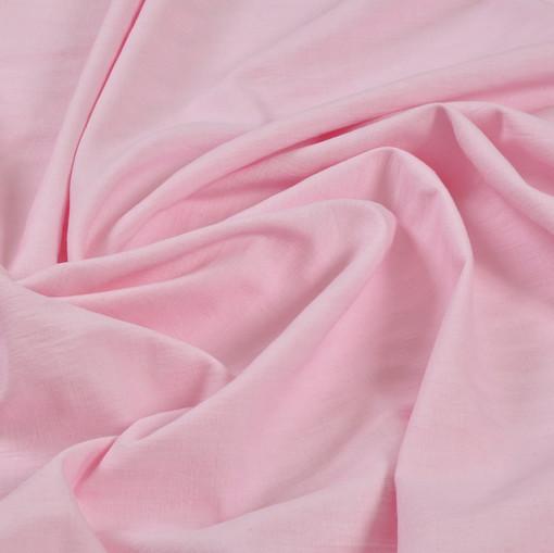 Натуральный лен карамельно-розового цвета