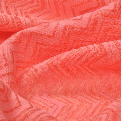 Трикотаж вискозный Missoni деворе, цвет – морской коралл