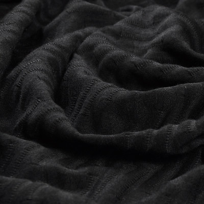 Вискозный фактурный трикотаж черного цвета