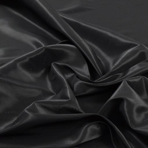 Подклад жаккардовый стрейч черного цвета Hugo Boss