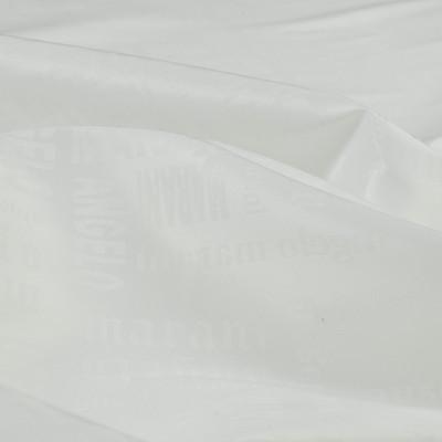 Ткань подкладочная жаккардовая стрейчевая белая Angelo Marani