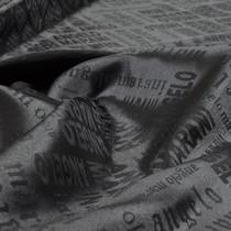 Стрейчевый жаккардовый подклад Angelo Marani, цвет – черный