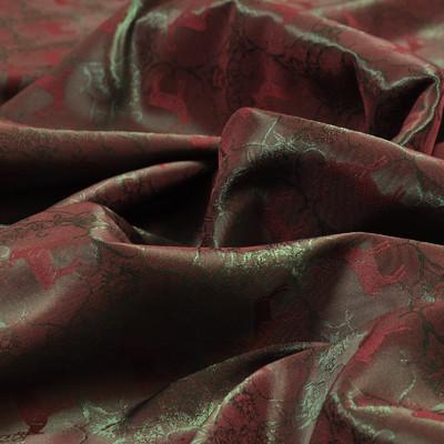 Ткань подкладочная жаккардовая хамелеон, цвет – зелено-красный