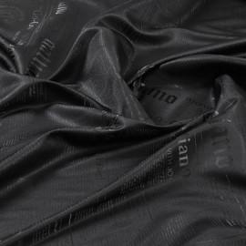 Стрейчевый черный подклад Galliano, жаккард