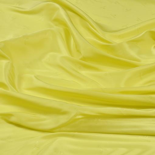 Жаккард вискозный подкладочный Aigner лимонно-желтого цвета