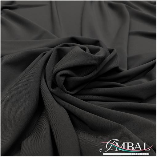Трикотаж плательный скользкий черного цвета