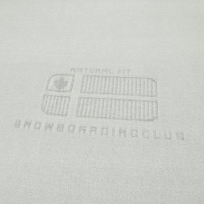 Флис светло-серого цвета для толстовок SnowBoardingClub