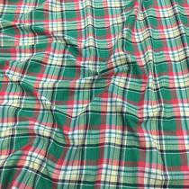Хлопок рубашечный стрейч принт Burberry зеленая гамма