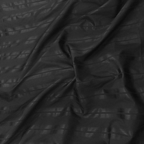 Хлопок рубашечный жаккардовый  в полоску черного цвета