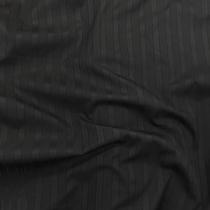 Хлопок рубашечный жаккардовый  в прозрачную полоску черного цвета