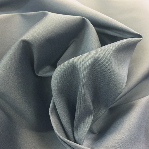 Хлопок рубашечный стрейч серо-голубого цвета