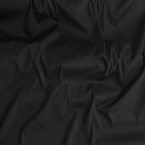 Хлопок рубашечный тонкий стрейч черного цвета