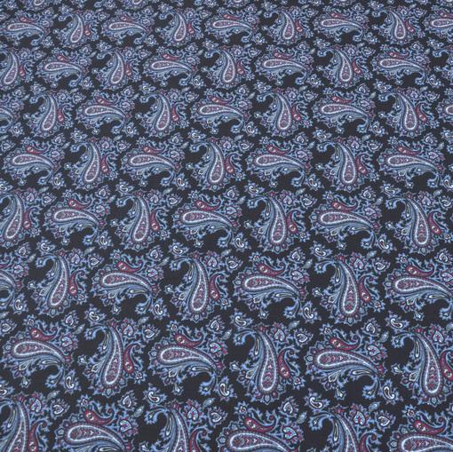 Рубашечный хлопок с розово-голубыми огурцами