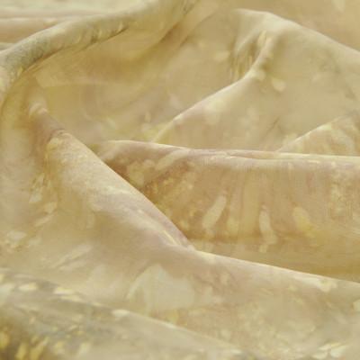 Хлопок батист желто-бежевого цвета с размытым рисунком