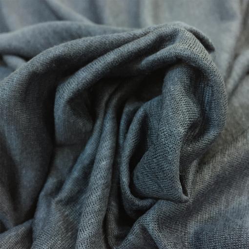 Трикотаж льняной стрейч серо-голубого цвета