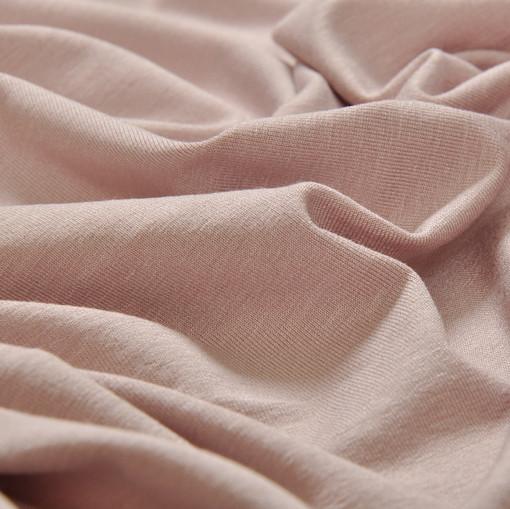 Вискозный трикотаж грязно-розового цвета