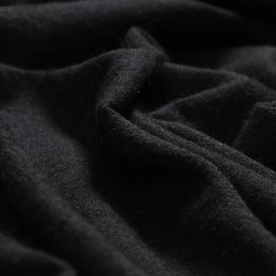 Шерстяной трикотаж черного цвета