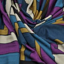 Вискозный трикотаж с разноцветными геометрическими фигурами