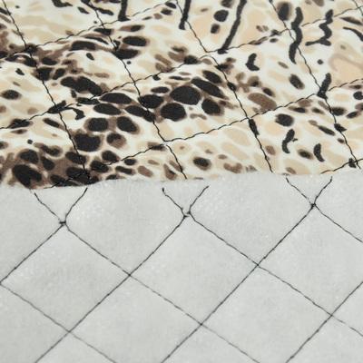Стеганная курточная ткань с рисунком под кожу рептилий