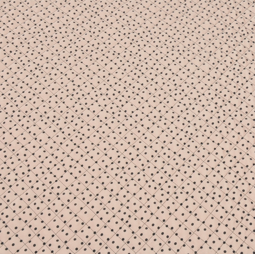 Курточная стеганная ткань бледного грязно-розового цвета