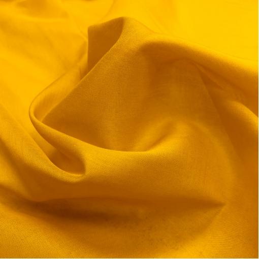 Батист хлопковый тонкий горчично-желтого цвета
