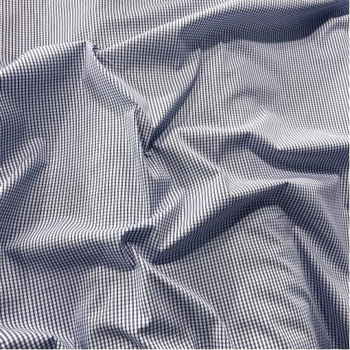 Хлопок рубашечный стрейч Sportmax в среднюю синюю клеточку