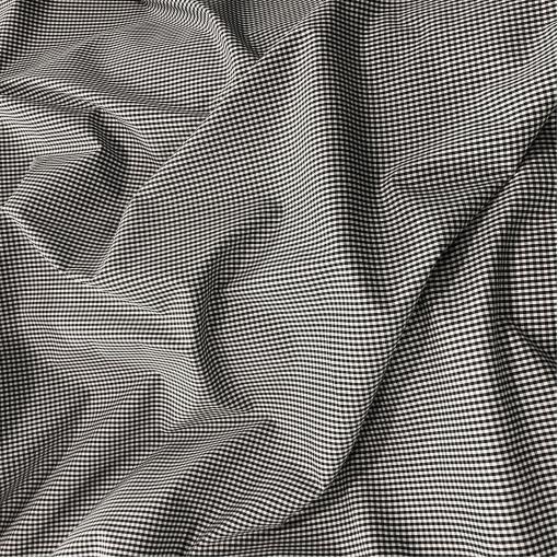 Хлопок рубашечный стрейч Sportmax в мелкую черную клеточку