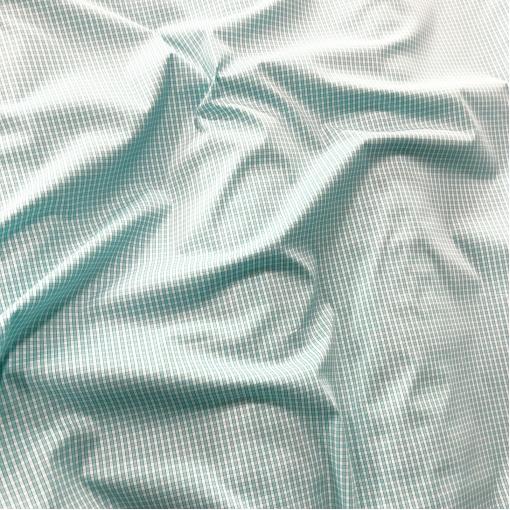 Хлопок рубашечный стрейч Sportmax в среднюю ярко-голубую клеточку