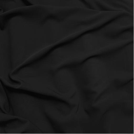 Вискоза креповая стрейч полупрозрачная черного цвета