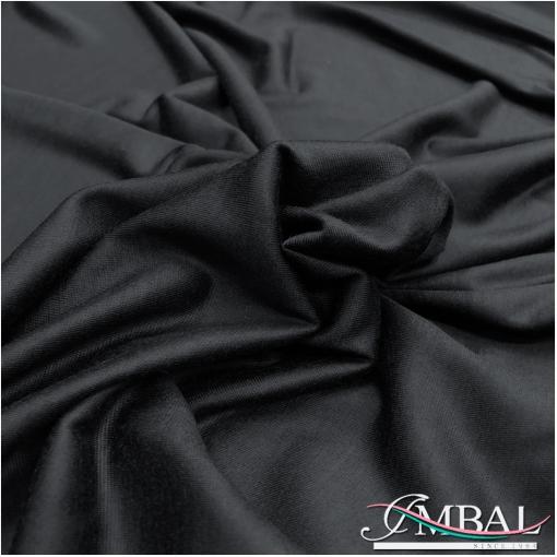 Трикотаж вискозный футболочный черного цвета