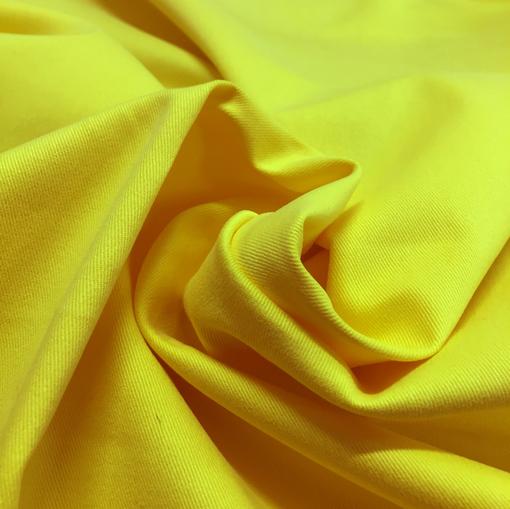 Хлопок стрейч ярко-желтого цвета