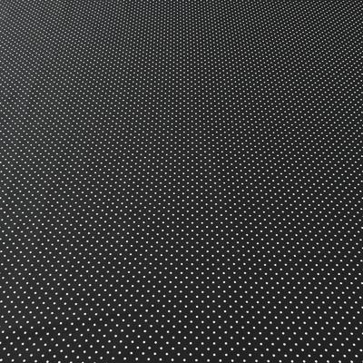 Плательно-рубашечный хлопок белый горох на черном фоне