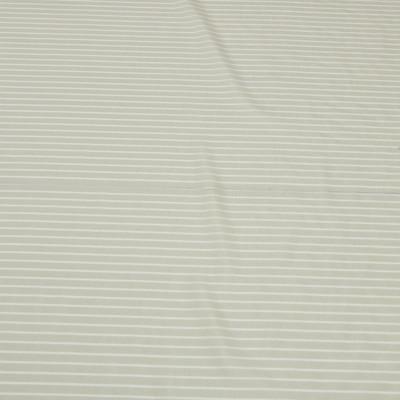 Муслин бежевый в белую продольную полоску