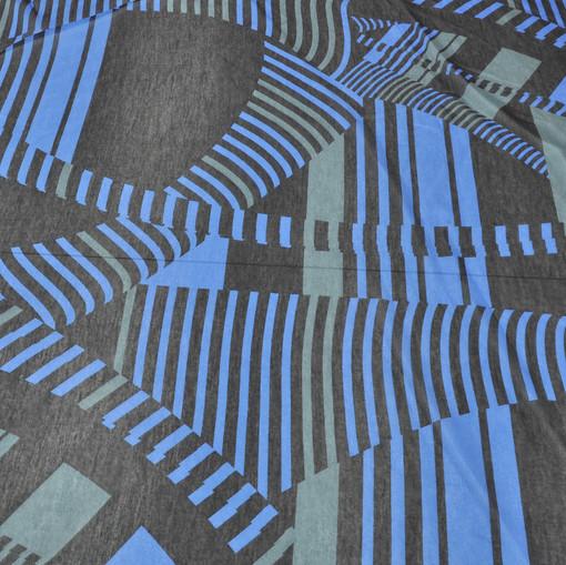 Муслин темной расцветки с геометрическим рисунком