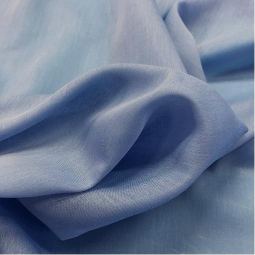 Муслин хлопок с шелком сине-голубого цвета
