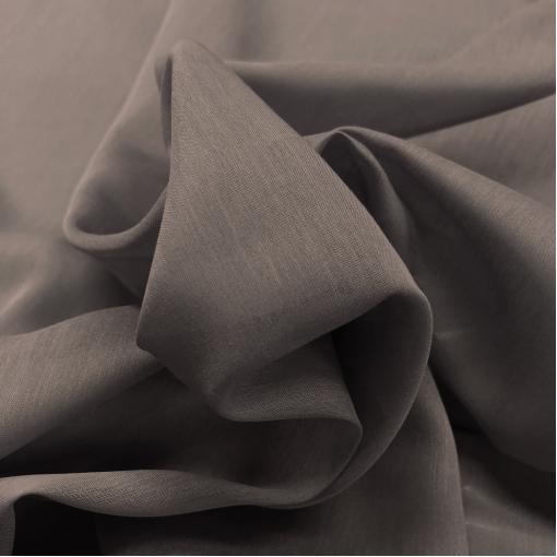 Муслин хлопок с шелком серо-бежевого цвета