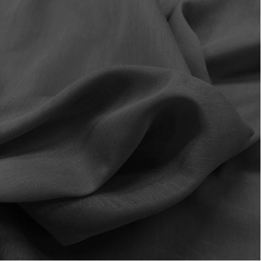 Муслин хлопок с шелком черно-серого цвета