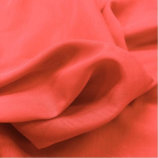 Муслин хлопок с шелком ярко-кораллового цвета
