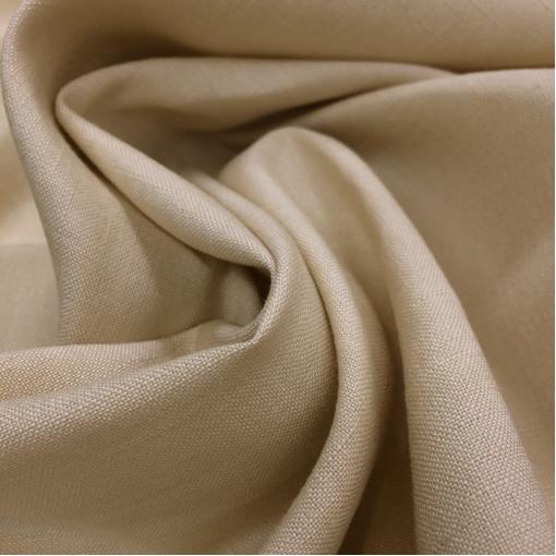 Лен костюмный ванильно-бежевого цвета