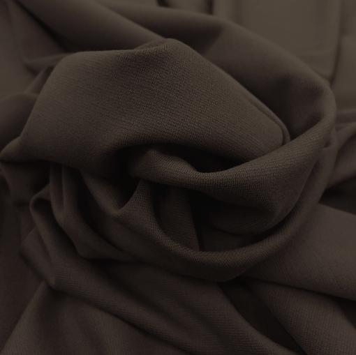 Джерси вискозное стрейч шоколадно-кофейного цвета